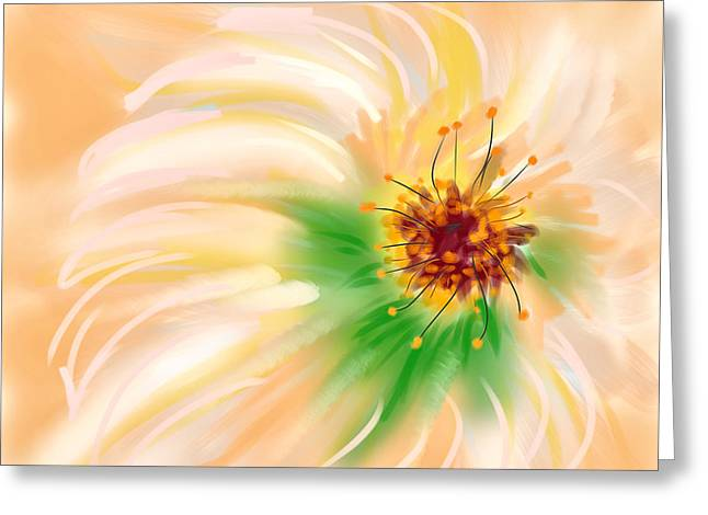 Spring Flower Greeting Card by Angela A Stanton