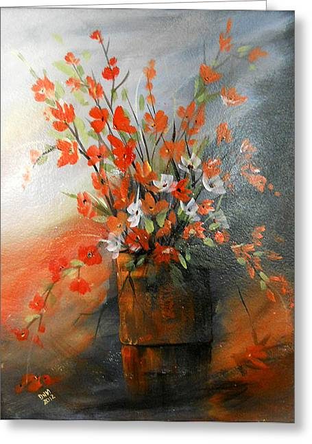 Greeting Card featuring the painting Spring Flower Bouquet by Dorothy Maier