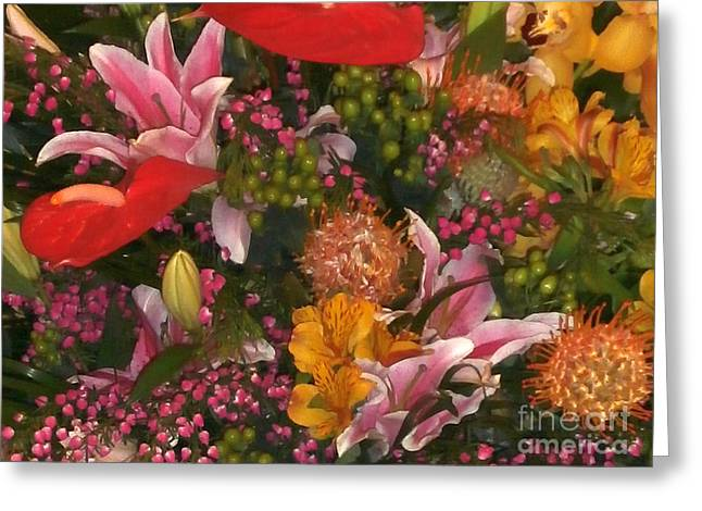 Spring Flower Bouquet Greeting Card by Joseph Baril