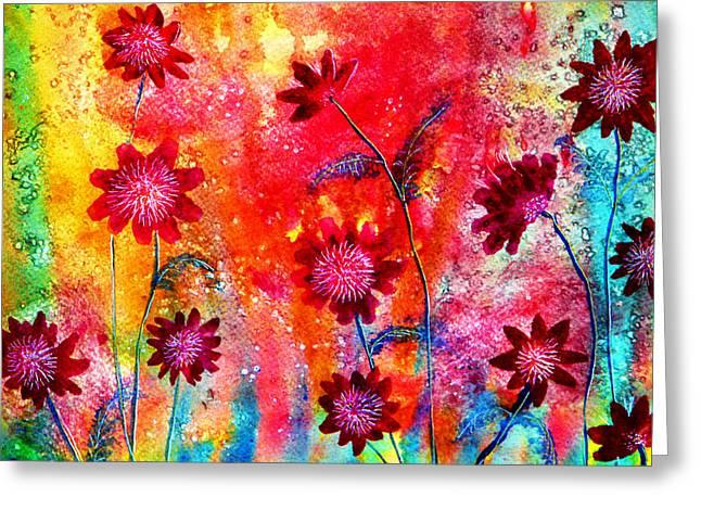 Spring Flowers Greeting Card by Ann Marie Bone