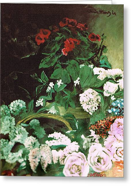 Spring Flowers Study Of Monet Greeting Card