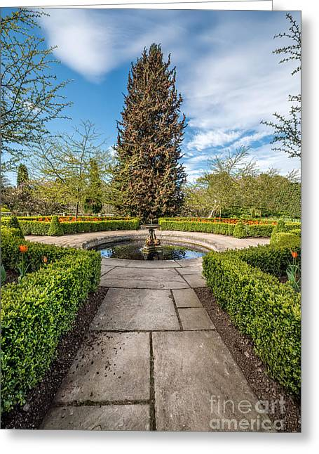 Spring Fountain Greeting Card by Adrian Evans
