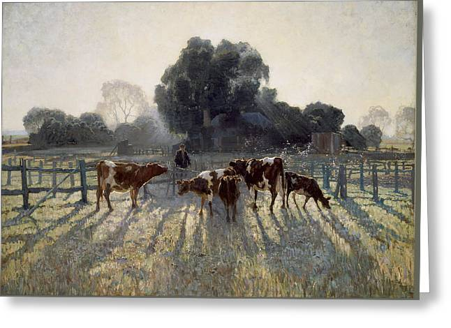 Spring Frost Greeting Card by Elioth Gruner