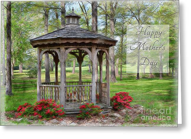 Spring Gazebo Photoart Mother's Day Greeting Card by Debbie Portwood