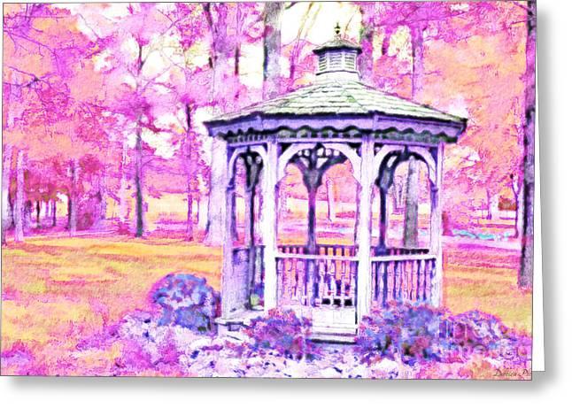 Spring Gazebo Series - Digital Paint  Vi Greeting Card