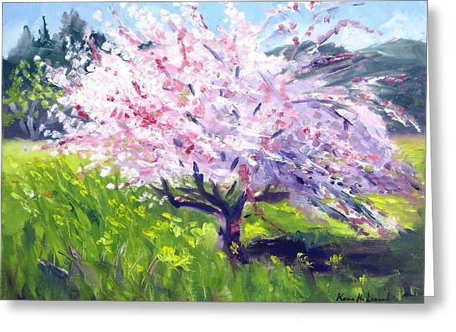 Spring Glory Greeting Card by Karin  Leonard