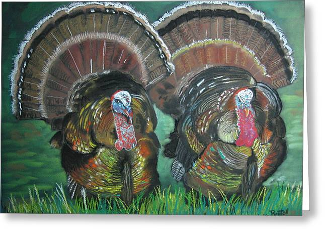 Spring Gobblers Greeting Card