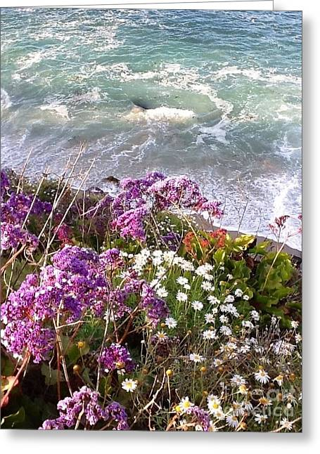 Greeting Card featuring the photograph Spring Greets Waves by Susan Garren