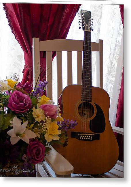 Spring Guitar Greeting Card