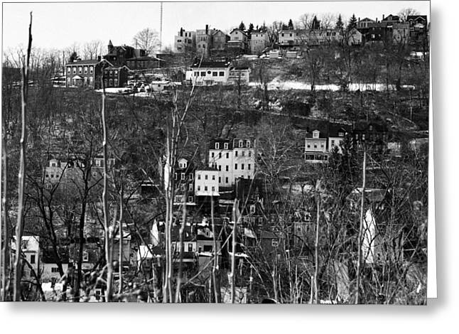 Spring Hill From Troy Hill In Pittsburgh Greeting Card by Eric Miller