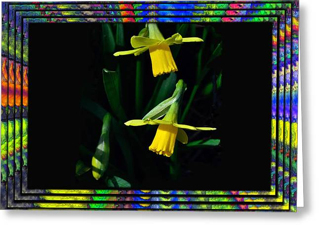 Spring In A Frame Greeting Card by Larry Bishop