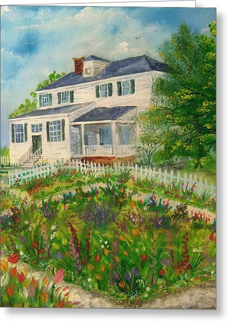 Spring In Colonial Williamsburg- Cole House Greeting Card