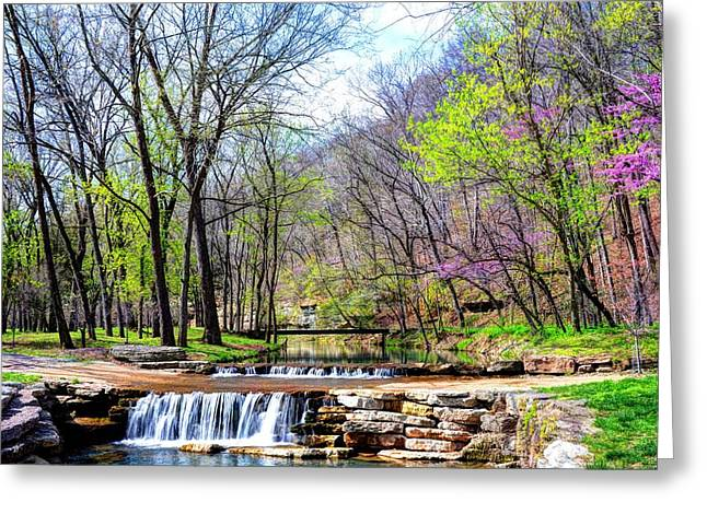 Spring In Dogwood Canyon Greeting Card by Jean Hutchison