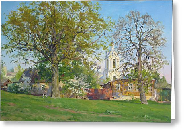 Spring In Kaluga Greeting Card by Victoria Kharchenko