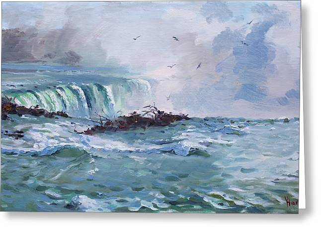 Spring In Niagara Falls Greeting Card by Ylli Haruni
