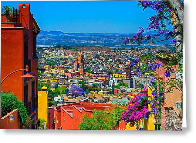 Spring In San Miguel De Allende Greeting Card