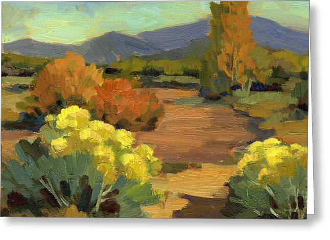 Spring In Santa Fe Greeting Card by Diane McClary