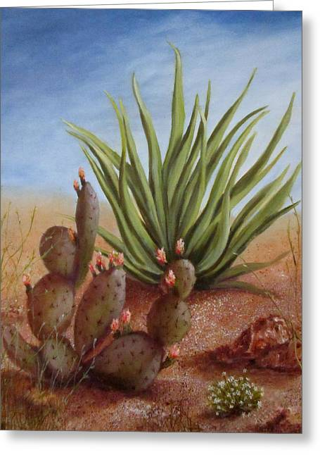 Spring In The Desert Greeting Card by Roseann Gilmore