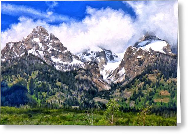 Spring In The Grand Tetons Greeting Card by Michael Pickett