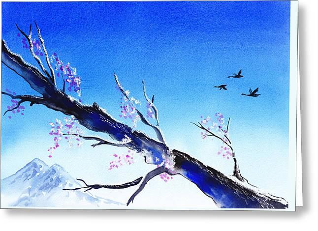 Spring In The Mountains Greeting Card by Irina Sztukowski