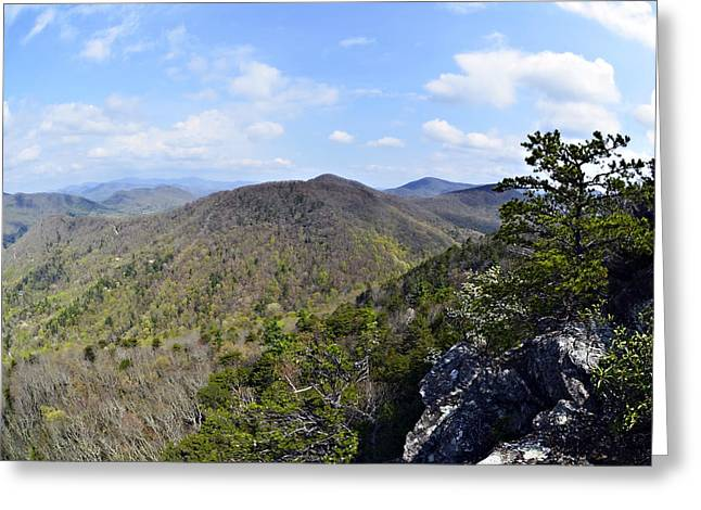 Spring In The Mountains Greeting Card by Susan Leggett