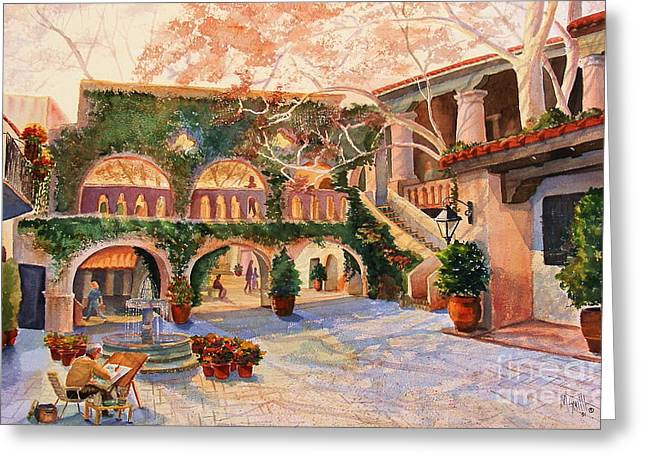 Spring In Tlaquepaque Greeting Card by Marilyn Smith