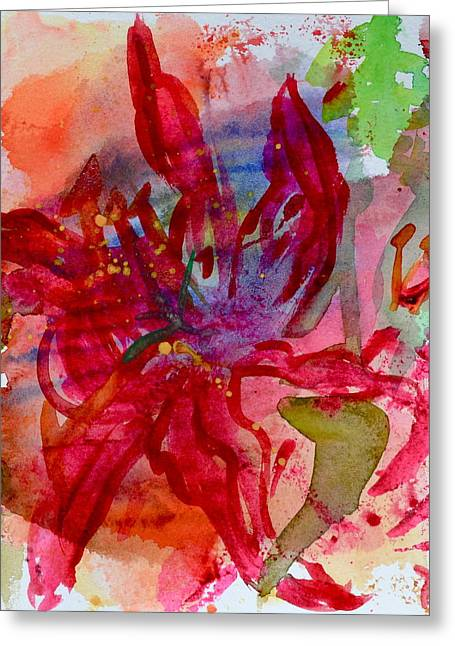 Spring Is A Messy Business Greeting Card by Beverley Harper Tinsley