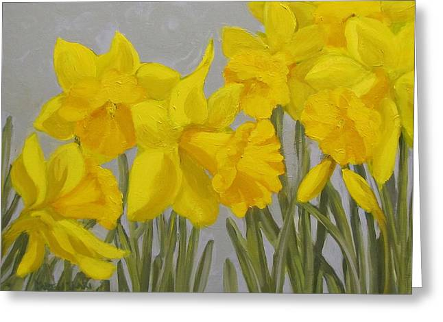 Greeting Card featuring the painting Spring by Karen Ilari