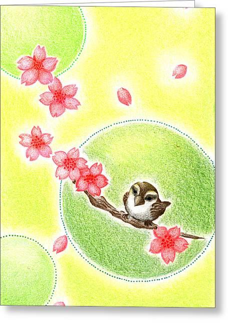 Spring Greeting Card by Keiko Katsuta