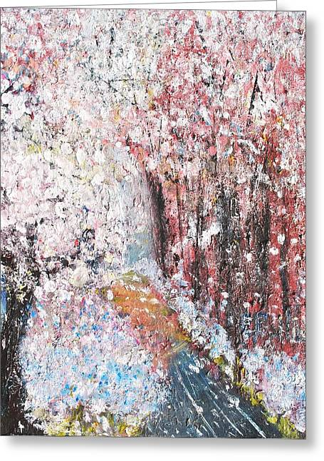 Spring Landscape Greeting Card by Evelina Popilian