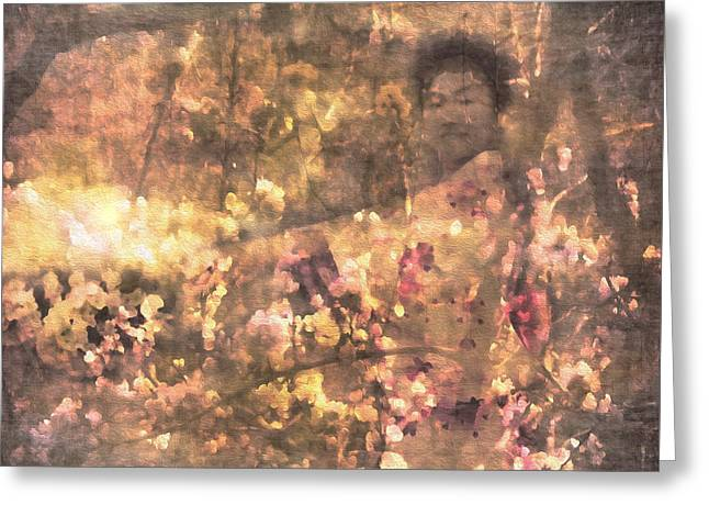 Spring Maiden Greeting Card by Kathy Bassett