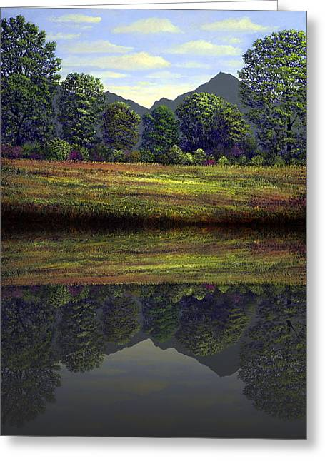 Spring Meadow At Sutter Buttes Reflection Greeting Card