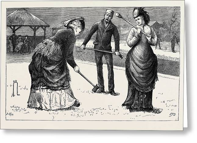 Spring Meeting Of The All England Croquet Club At Wimbledon Greeting Card
