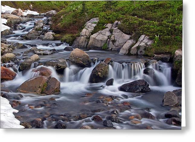 Greeting Card featuring the photograph Spring Melt by Bob Noble Photography