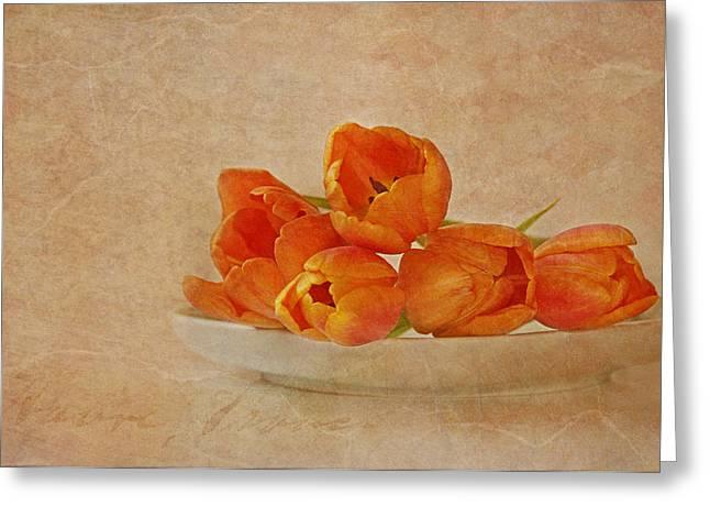 Spring Menu Greeting Card by Claudia Moeckel