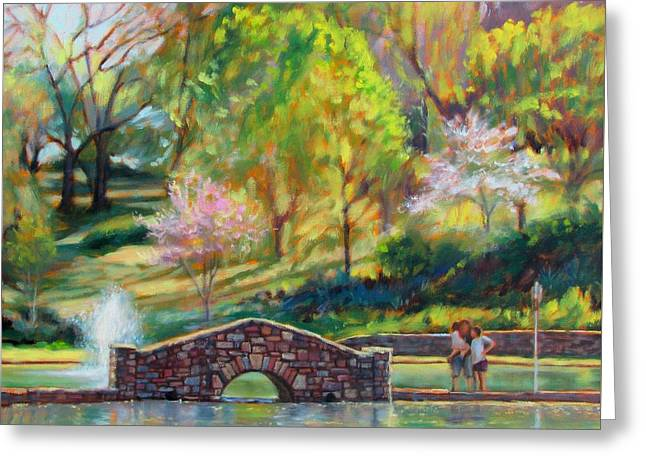 Spring Morning Greeting Card by Bonnie Mason