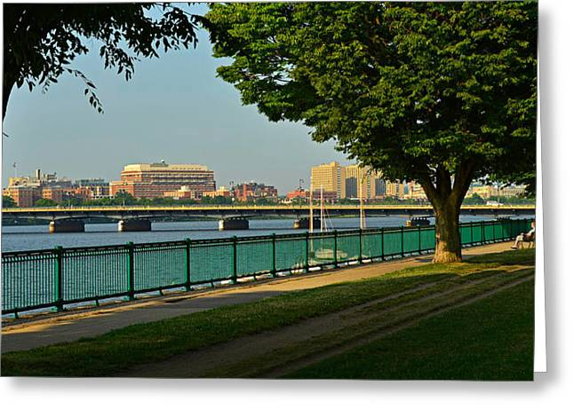 Spring Morning By The Charles River Greeting Card