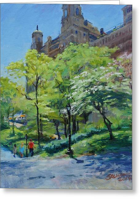 Spring Morning In Central Park Greeting Card