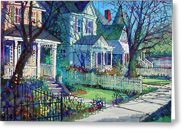 Spring Morning On East Street Greeting Card