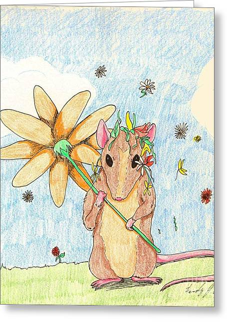 Spring Mouse Greeting Card