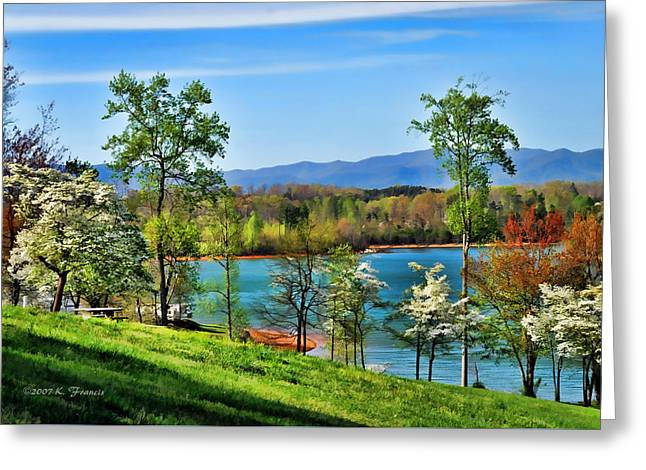 Spring On The Lake Greeting Card