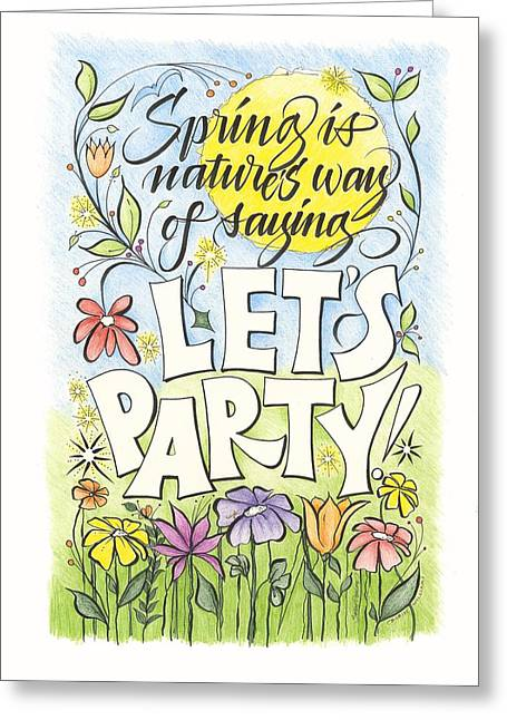 Spring Party Greeting Card