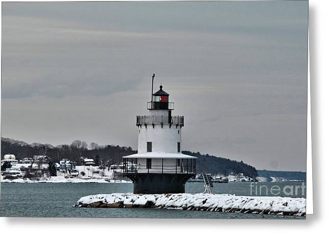 Spring Point Ledge Light_9969 Greeting Card by Joseph Marquis