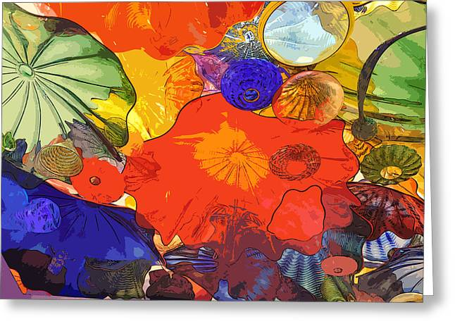 Greeting Card featuring the digital art Spring Poppies by Kirt Tisdale