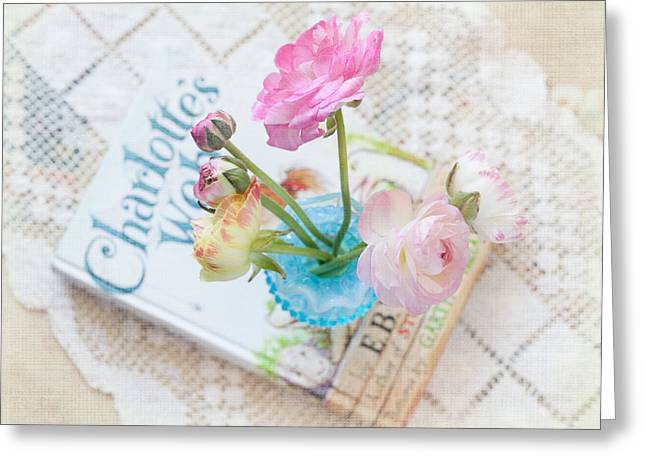 Spring Ranunculus Greeting Card by June Marie Sobrito
