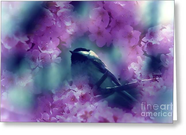 Spring Rhapsody Blossoms Greeting Card by Cathy  Beharriell