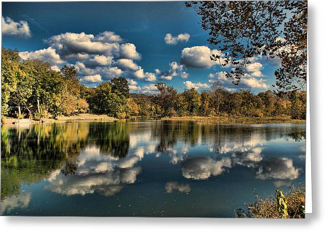 Spring River Autumn Greeting Card