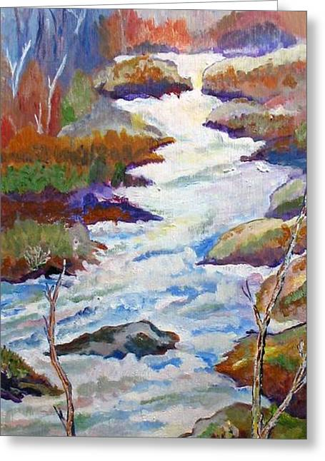 Spring River Rushing Greeting Card by Frank Giordano