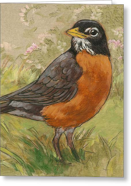 Spring Robin 1 Greeting Card