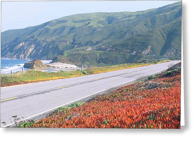 Spring, Route 1, California Coast Greeting Card by Panoramic Images